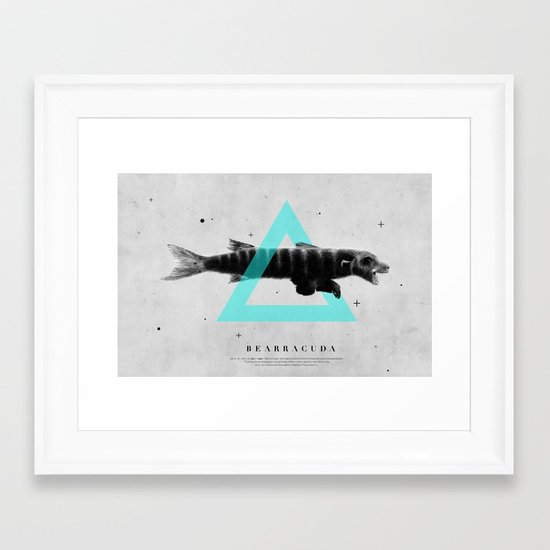 Bearracuda Framed Art Print