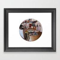 6:39 PM Framed Art Print