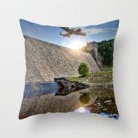 Over the Dam Throw Pillow