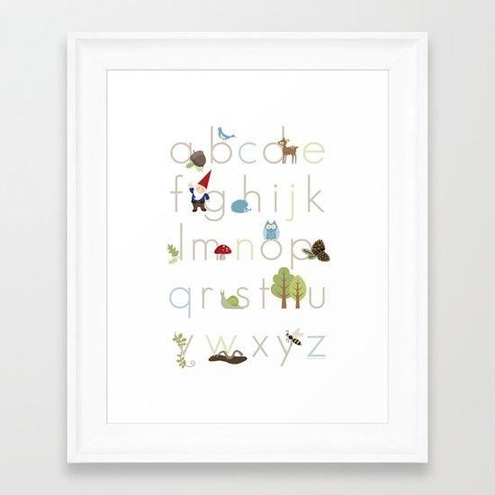 Woodland Alphabet Framed Art Print