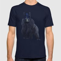Optimus Primate Mens Fitted Tee Navy SMALL