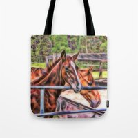 Horses And Gate Tote Bag