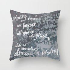 River Dreams Throw Pillow