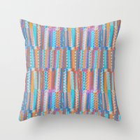 Pastel photographic and digital pattern Throw Pillow