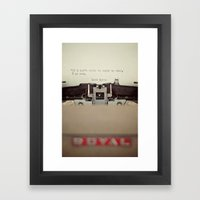 If. Framed Art Print