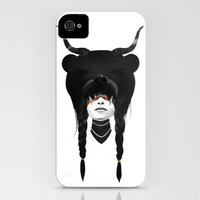 iPhone 4s & iPhone 4 Cases featuring Bear Warrior by Ruben Ireland