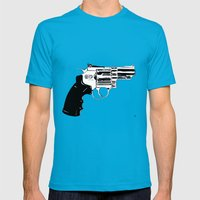 Gun #27 Mens Fitted Tee Teal SMALL
