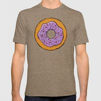 Doughnut Mens Fitted Tee Tri-Coffee SMALL