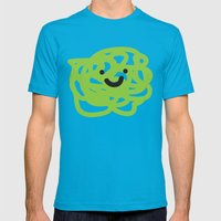 Garabato 3 Mens Fitted Tee Teal SMALL