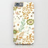 iPhone & iPod Case featuring Little Creme Garden Flowers by Alyssa Bermudez