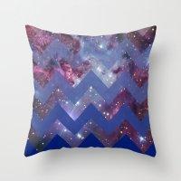 Infinite Navy Throw Pillow