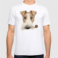 Fox Terrier Sailor Mens Fitted Tee Ash Grey SMALL
