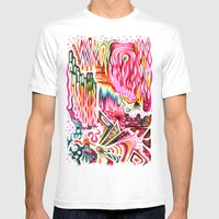 Sunk Into A Candy Cave Mens Fitted Tee White SMALL