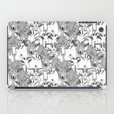 just goats black white iPad Case