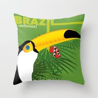 Brazil [rainforest] Throw Pillow