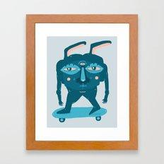 Skater Bunny Framed Art Print