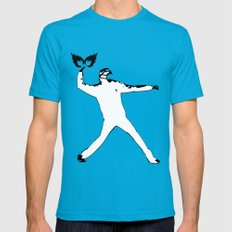 Riot Mens Fitted Tee Teal SMALL