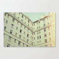 Vintage San Francisco Architecture (Film) Canvas Print