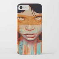 portrait iPhone & iPod Cases featuring Pele by Michael Shapcott