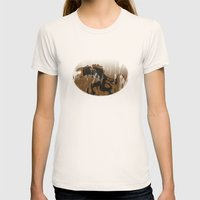 oil monster Womens Fitted Tee Natural SMALL