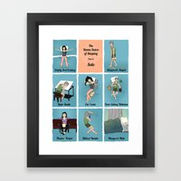 The Kama Sutra Of Sleep, Part 3: Solo Framed Art Print