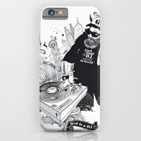 iPhone & iPod Case featuring GOD IS A DJ by kravic