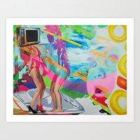 The Boob Tube Art Print