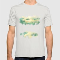 Clouds1213 Mens Fitted Tee Silver SMALL