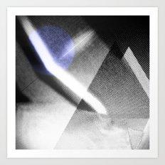 MOONLIGHT_B&W Art Print