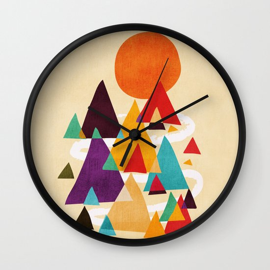 Let's visit the mountains Wall Clock