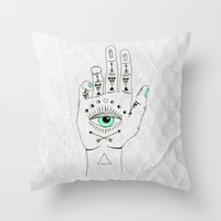 EYE SEE HAMSA Throw Pillow