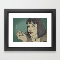 Mia (Mia Wallace Pulp Ficion) Framed Art Print
