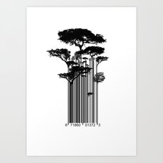 Barcode Trees illustration  Art Print