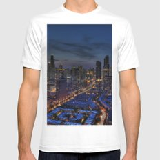 The City Of Big Shoulders Mens Fitted Tee White SMALL