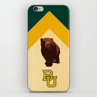 Baylor University - BU logo with bear iPhone & iPod Skin