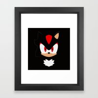 Shadow the Hedgehog Framed Art Print