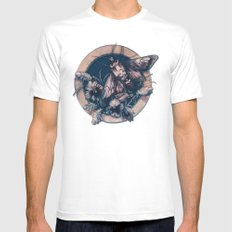 Circle of Life SMALL White Mens Fitted Tee