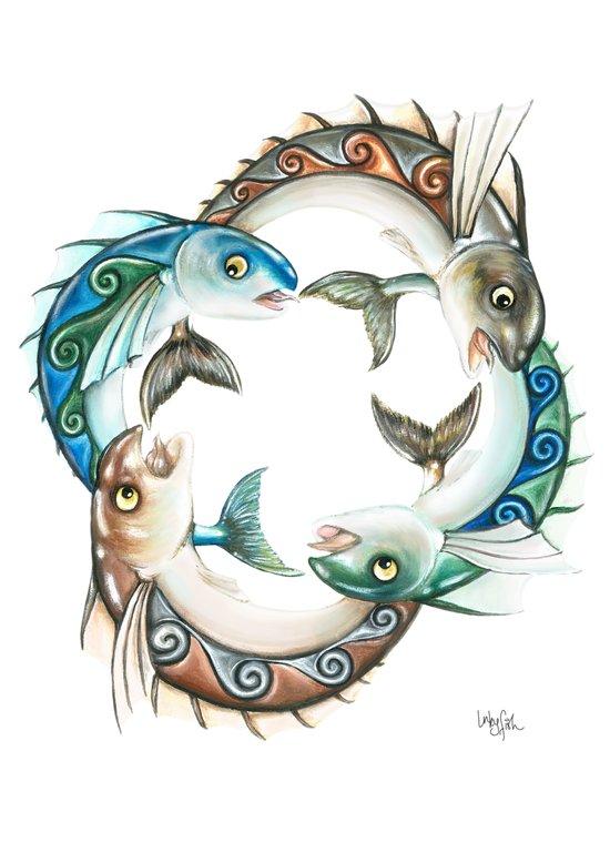 INKYFISH - Fish Circle #3 Art Print