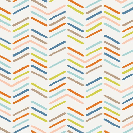 Mixed Herringbone - in Burnt Orange Canvas Print