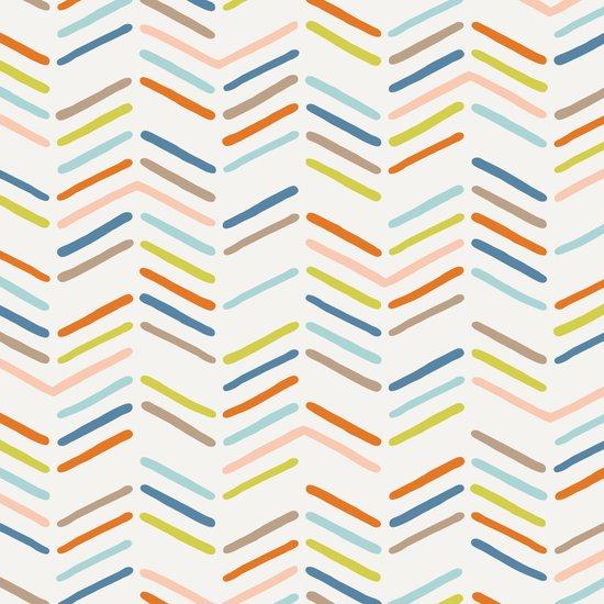Mixed Herringbone - in Burnt Orange Art Print