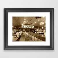 Texaco Framed Art Print