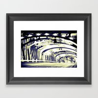 Through The Golden Bridg… Framed Art Print