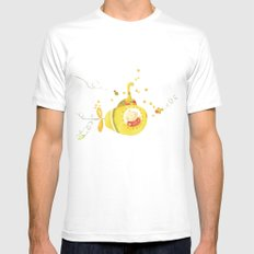 Baby's yellow submarine SMALL White Mens Fitted Tee