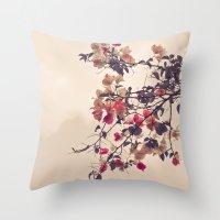 Dream of Flowers Throw Pillow