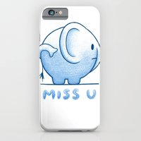iPhone & iPod Case featuring blue elephant by Ingrid Aspöck