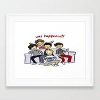 One Direction 'Vas Happenin' Cartoon Framed Art Print