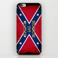 Heritage, not Hatred - US Southern Cross Flag iPhone & iPod Skin