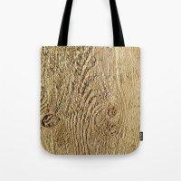 Unrefined Wood Grain Tote Bag