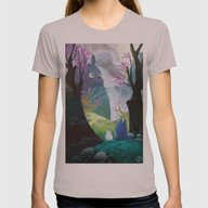 TOTORO Womens Fitted Tee Cinder SMALL