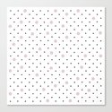 Pin Points Polka Dot Pink Canvas Print